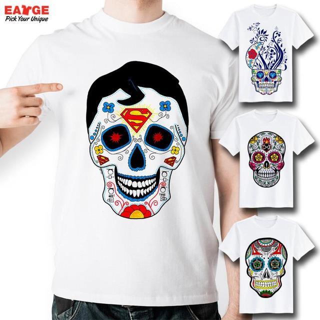 1ff6c15167f9 [EATGE] Novelty Skull T Shirt Funny Design Fashion Skateboard T-shirt Brand  Hip Hop Cool Tshirt Men Style Printed Punk Tee