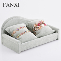 FANXI Free Shipping Custom Wooden Sofa Shape Bangle Display Holder For Jewellery Shop And Store Watch