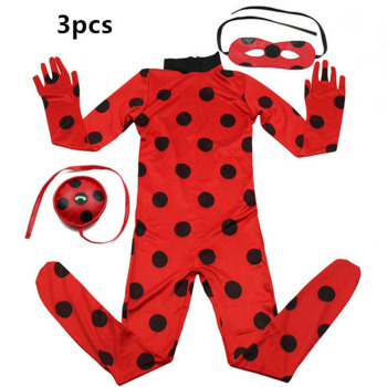 2019 hot Carnival Clothing Lady Bug Cosplay Sets Ladybug Halloween Christmas Party Custume Kids Girls Suit Spot 3-10Y 1