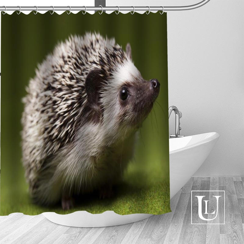 New arrival Custom Hedgehog Shower Curtain bathroom beautiful decor Shower Curtain Waterproof for yourself