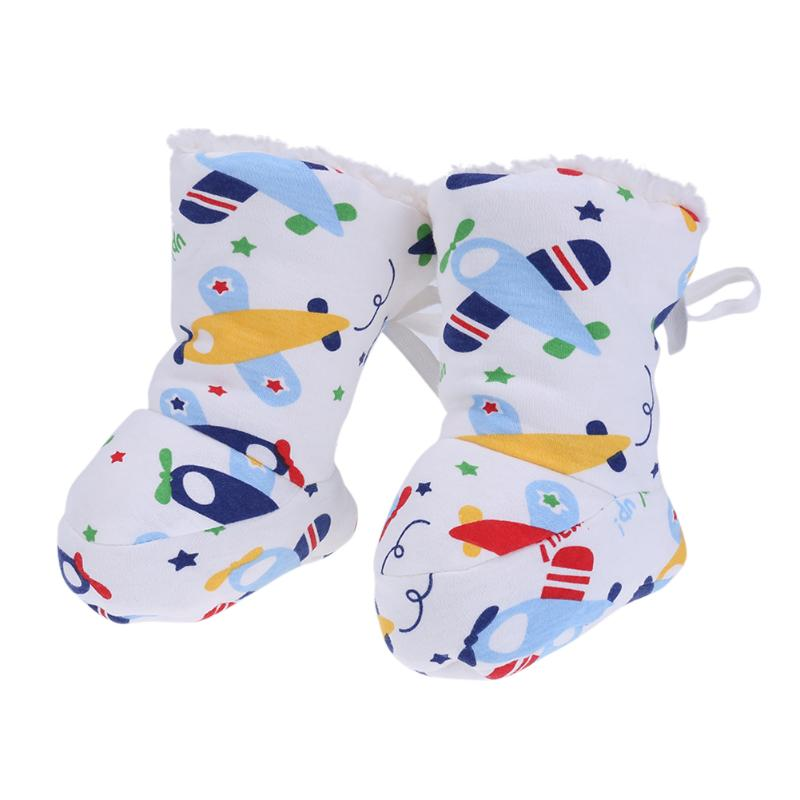Winter Baby Shoes Newborn Prewalker Cartoon Soft Sole Shoes Baby Fleece Cotton Socks Foot Covers Infant First Walker Slippers