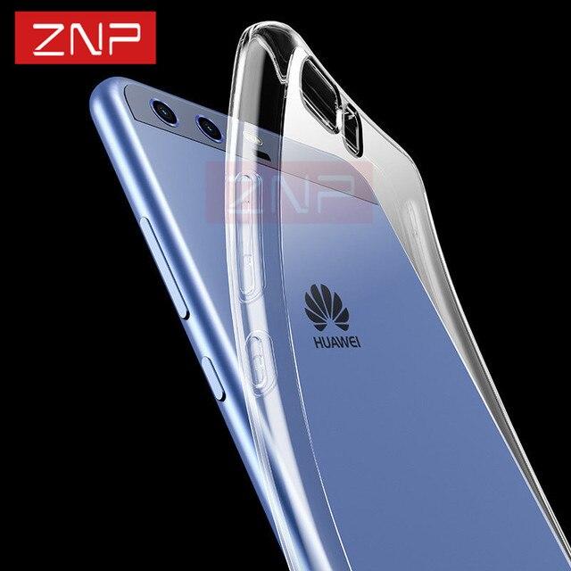 ZNP Silicone TPU Soft Case Transparente Para Huawei P10 P10 Plus alta Qualidade Casos Tampa Transparente Para Huawei Caso lite P10 P10