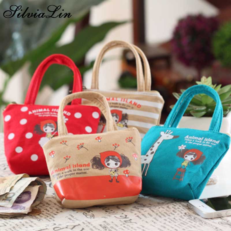 Coin Purse Handbag Headset-Bags Canvas Bag Kawaii Wallet Zipper Small Girls Mini Women