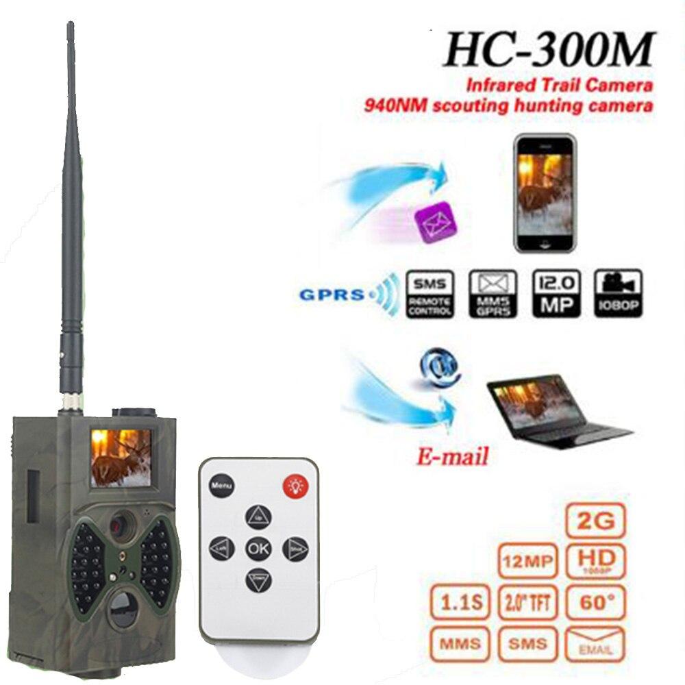HC300M 12M Hunting Trap Camera HD 1080P Digital Scouting Trail Camera GPRS MMS GSM 940NM Infrared Night Vision Hunting Camera