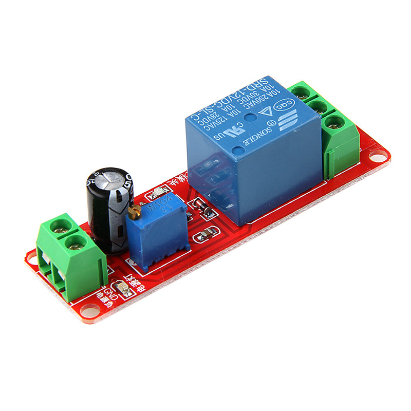 New DC 12 V Vehicle Delay Relay Shield Module NE555 Timer Adjustable Switch 0 ~ 10 S dc 12v led display digital delay timer control switch module plc automation new