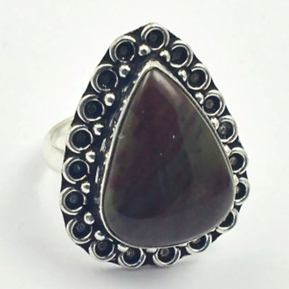 Jaspers     Ring  Silver Overlay over Copper , Size: 7.75 ,  R4499