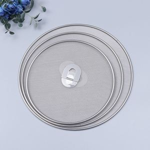 Image 5 - 3 Pieces Splatter Screen Mesh Pot Lid Cover Oil Frying Pan Lid Explosion Proof Smoke Splash Proof Insulation Oil Filter Cover