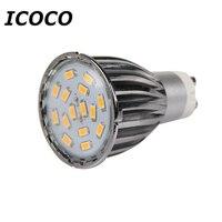 ICOCO 4 x GU10 15 SMD5630 6 W LED Spot Light Ampoules haute Qualité Blanc Chaud/Jour Blanc Coque En Aluminium En Gros Flash Affaire Vente