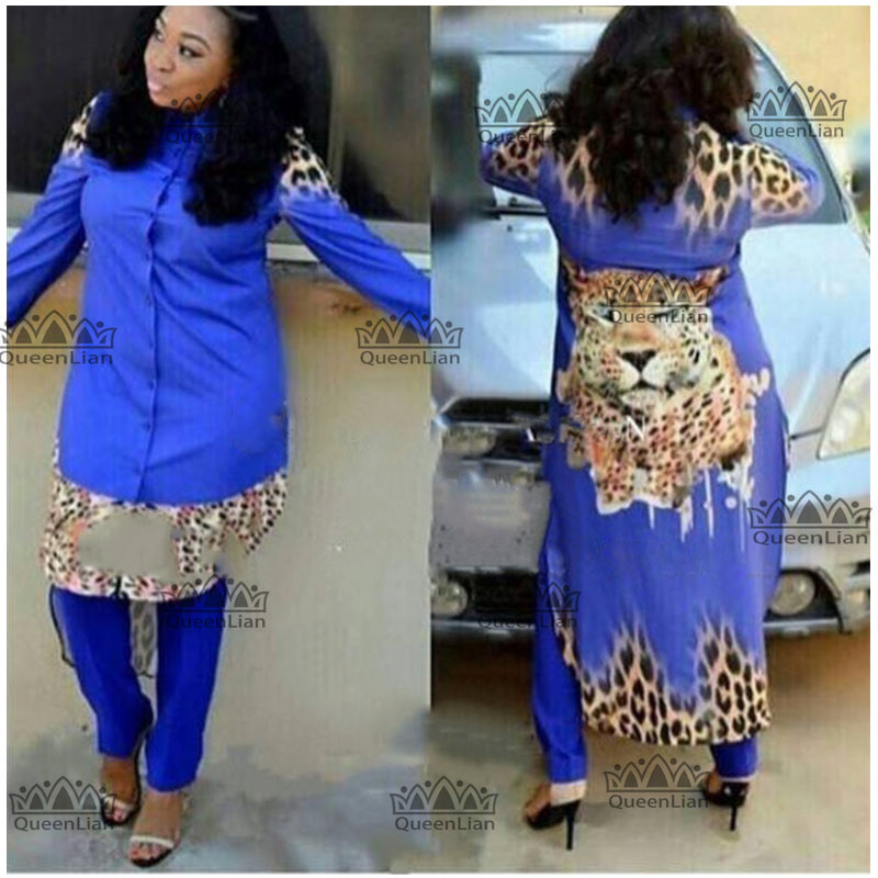 (L-XXXXL)2018 African  Design Dress Long Top With Pants For Lady  (TZ04#)