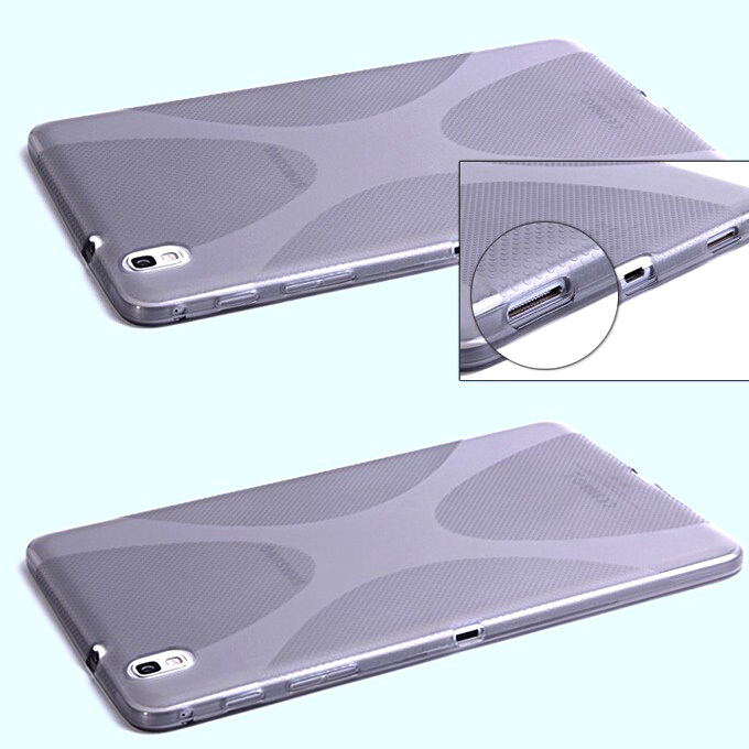 4 colors Soft X-line TPU Silicone Tablets Case Anti-slip Skin For Samsung Galaxy Tab Pro 8.4 T320 T321 Accessories S3D88D