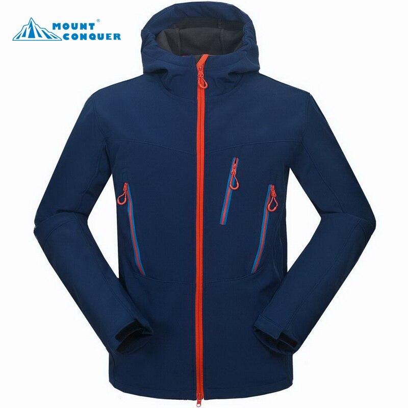 2017 Outdoor Sport Windproof Rain Coat Male Trekking Windbreaker Winter Ski Tech Fleece Waterproof Men's Softshell Jacket