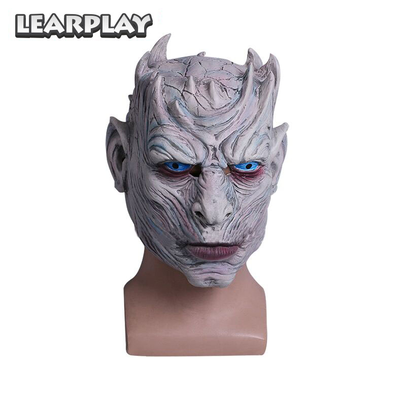 Game of Thrones Night's King Cosplay Mask The white Walkers Masks Halloween Costume Accessories Face Cover Haunted Props