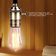 Vintage Metal E27/E26 Lamp Holder Ceiling Mounted Light Bulb Lamp Holder Socket Base with Hanging String цены