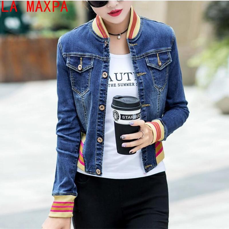 New 2019 Spring Autumn Women's Denim   Jackets   Vintage Casual Coat Female Jean   Jacket   For Outerwear Women   Basic   Coats Camperas