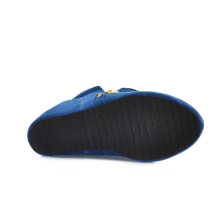Automne Femmes Arrivée D'hiver Plate Coins Hiver Occasionnels Dames Augmenté yellow blue Black Nouvelle Chaussures forme A Bottes De Nude Aq5HSSgWn
