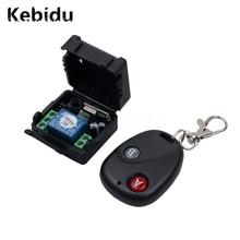 جهاز تحكم عن بعد لاسلكي من kebidu بمفتاح تحكم عن بعد DC12V 10A 433 ميجاهرتز جهاز إرسال عن بعد مع جهاز استقبال