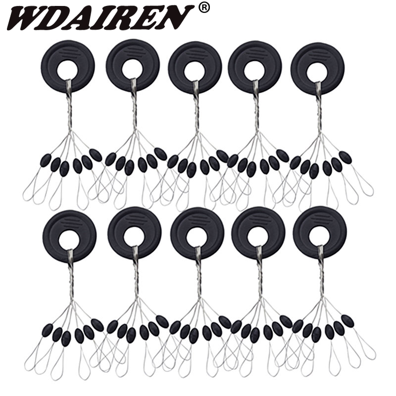 20Group 120pcs/set Tackle Resistance Space Not To Hurt The Line Vertical Beans Rod Clip/o-shaped Fishing Accessories PJ-303