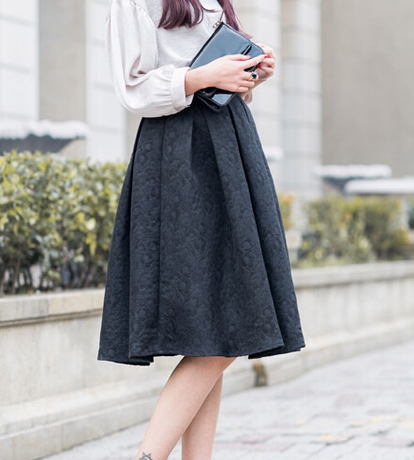 Black A Line Denim Skirt 2017 | Dress Ala - Part 862