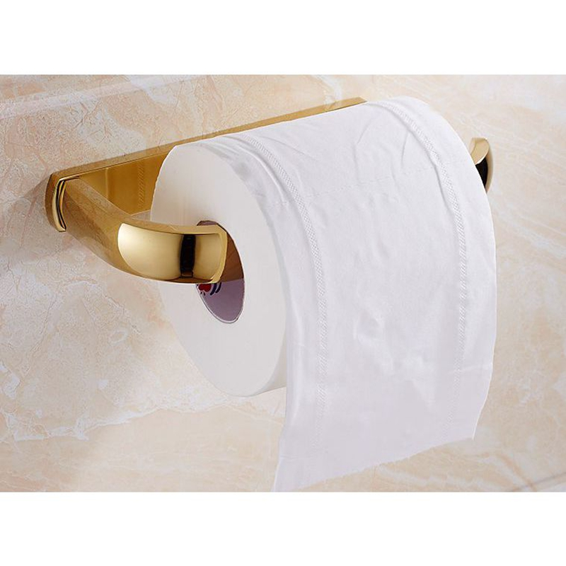 Xogolo Solid Copper Retro Four Colors Wall Mounted Bathroom Toilet Paper Towel Holder Roll Holder Accessories in Paper Holders from Home Improvement
