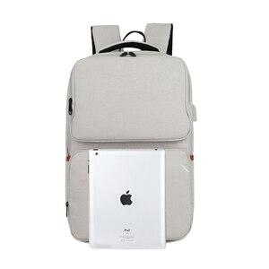 Image 5 - Kính Cận Unisex New Thời Trang Kinh Doanh Du Lịch USB Ba Lô Laptop Canvas Túi Máy Tính Lớn Dung Tích Ba Lô Nam Nữ Hành Lý