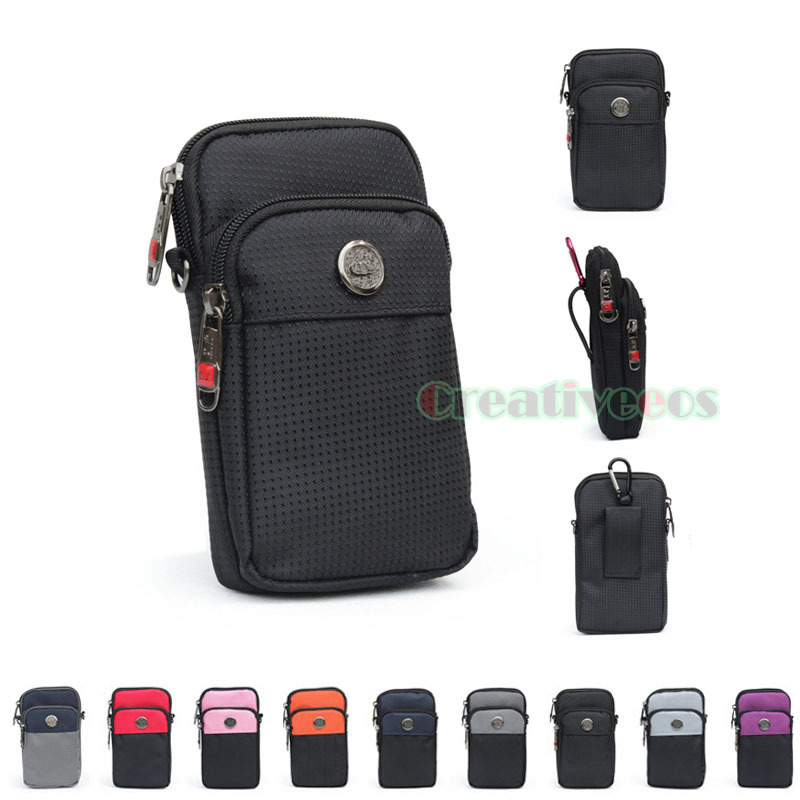 Unisex Waterproof Oxford Hook Cigarette Case Cell/Mobile Phone Messenger Cross body Hip Bum Belt Waist Fanny Pack Pouch Bag