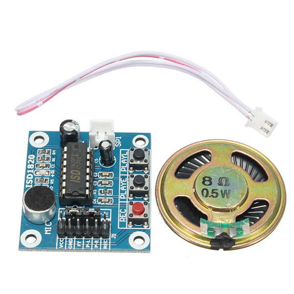 LEORY 3pcs ISD1820 3-5V Voice Module Recording Playback Module Loudspeaker For Arduino SCM Control Loop / Jog / Single Play