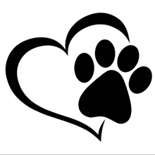 Love My Dog Animals Car Decal Sticker Cute And Interesting Fashion Decals