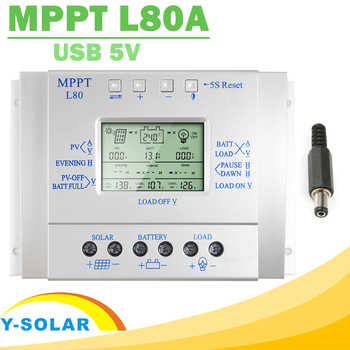Y-SOLAR MPPT 80A Solar Charge Controller 12V 24V Regulador Solar 80A for Max 48V Input with Light and Timer Control USB 5VOutput - DISCOUNT ITEM  13% OFF All Category