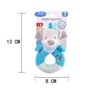 Image 5 - Animal chaud doux en peluche enfants bébé garçon fille hochets bébé main cloches poupée éducative mignon dessin animé Animal en peluche infantile jouets cadeau