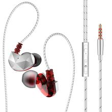 цена на New Arrival QKZ CK6 Universal Active Noise-Cancellation Mic HiFi In-ear Wired Phone Music Earphones