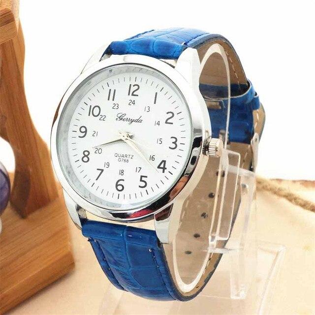 Горячая часы! Новый Gerryda элегантные мужские часы спортивные часы кожаный ремешок Кварцевые Saat человек часы Relogio masculino человек часы Relogio