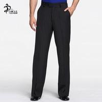 Men Dance Pants Men Ballroom Latin Dance Standard Pants Adults Straight legged Stripe Trousers Men Samba Rumba Dance Clothing