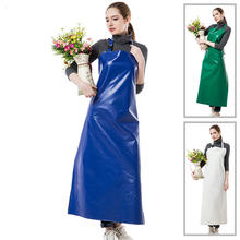 NEW PRACTICAL UNISEX ADULTS OUTSIDE WORKING CLEANING APRON HIGH QUALITY PU WATERPROOF FREE SHIPPING