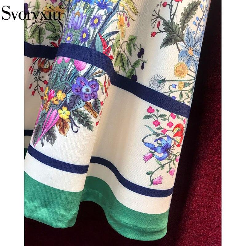 Femmes De Manches Femme Parti Élégant Montant Floral Svoryxiu Robes Longues Multi Vacances Imprimé Vintage Robe Automne Courte Col À Designer XYxwpgzBwf