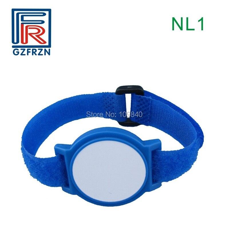 100pcs 125khz RFID Adjustable Nylon wristband EM4100 proximity bracelet for Amusement Park access control survival nylon bracelet brown