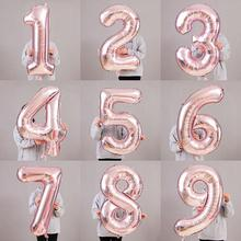 32 Inch Rose Gold Number Shaped Aluminum Foil Balloon Anniversary Party Wedding Festival Decoration