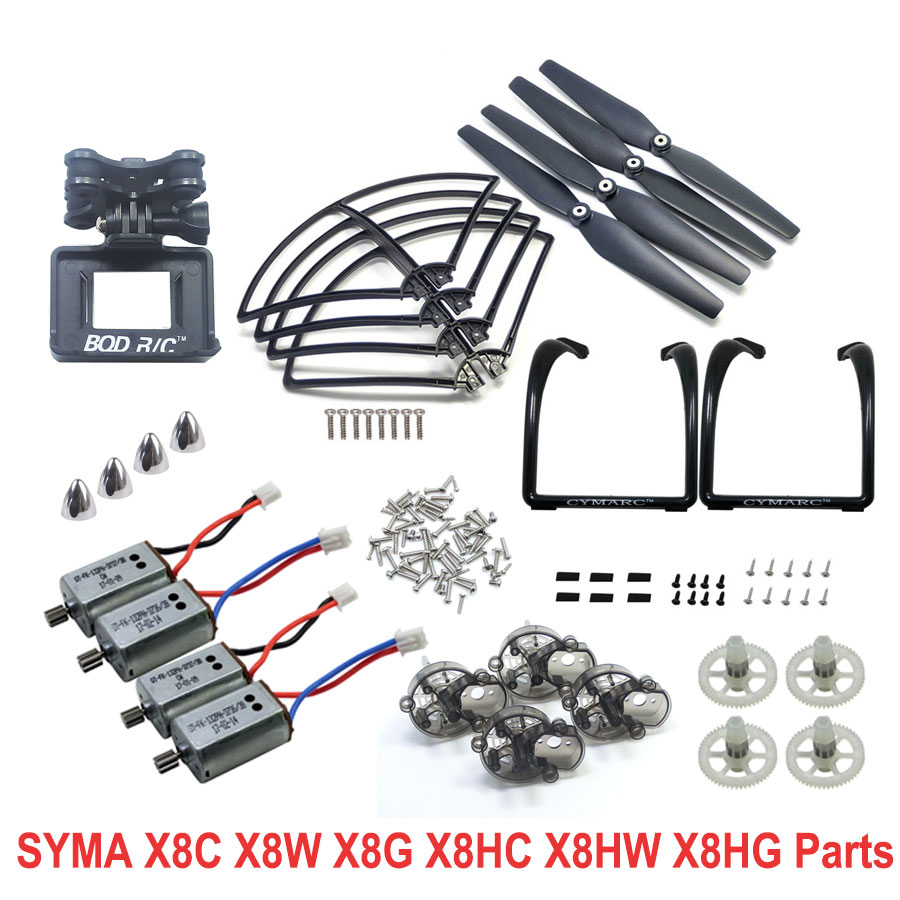 Syma X8C X8W X8HC X8HW X8HG Spare Parts Kits Main Gears Shaft Main Frame Motors Blades Cover Screws Protection Upgraded Tripod high steady cost effective wood cutting mini cnc machine milling