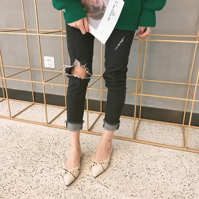 Bas Luxe Célibataires Femmes Confortable Fond Doux Pointu Designer Chaussures fonds De Plat Nouveau FAqUxSw
