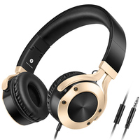 Best Wired Headphones With Microphone Over Ear Headsets Bass HiFi Sound Music Stereo Earphone For