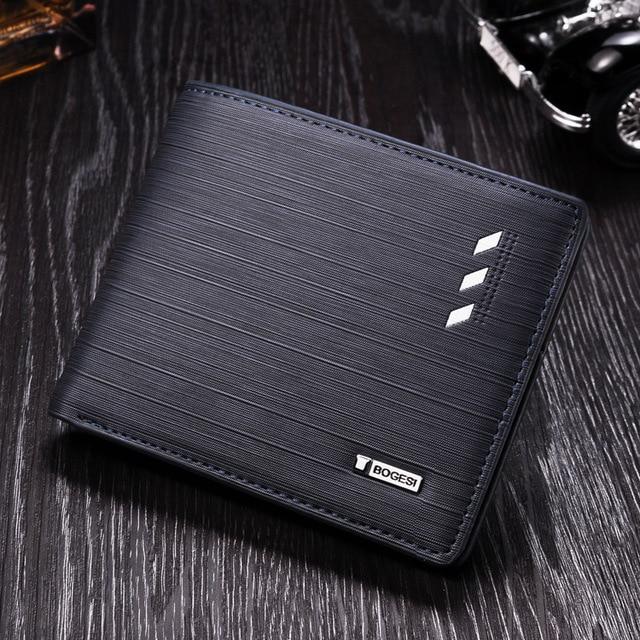 men s pu leather wallet multifunction screen printing wallet fashion