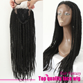 Natural Black culry Braided Synthetic Lace Front Wig Heat Resistant 14-26 Inch Big Box Braids Lace Front Wigs For Black Woman
