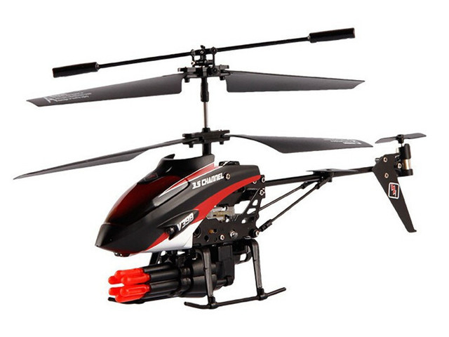 WL toys V398 3.5 Channel RC Helicopter with Missile launch 360 Degree Rotation