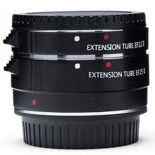 EF12 EF25 Metal Monte Foco Automático AF Macro Anel Tubo de Extensão para Lente Canon 60D 70D 80D 77D 800D 760D Beijo X9i 9000D X80 8000D
