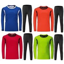 18 19 дети до униформа для взрослых Футбол вратарь мужской футбольный костюм детские футбольные Вратари, рубашка, брюки, брюки