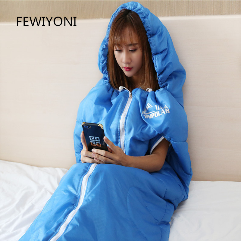 FEWIYONI Extensible sleeping bag for adult outdoor camping warm cotton sleeping bag travel hotel indoor dirty