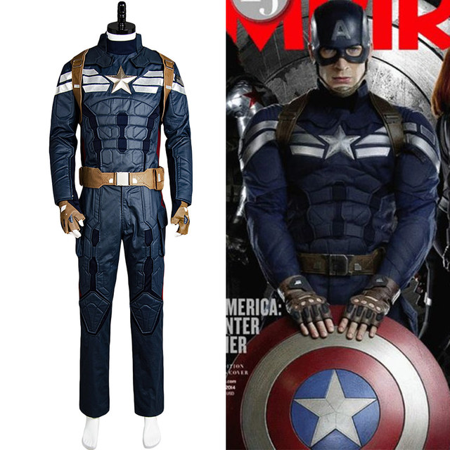 US $180.0 |Captain America 2 Cosplay Costume The Winter Soldier Steve  Rogers Uniform Outfit Cosplay Costume Uniform Outfit Full Set Men -in Movie  & TV ...