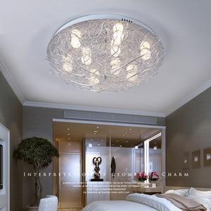 Image 3 - 현대 천장 조명 led 조명 홈 비품 거실 램프 새의 둥지 luminaires 키즈 침실 천장 조명