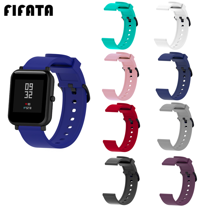 FIFATA Soft Silicone Smart Watch Wristband For Huami Amazfit Bip/GTS/Polar Ignite/Garmin Vivoactive 3 Watch 20MM Replacment Band