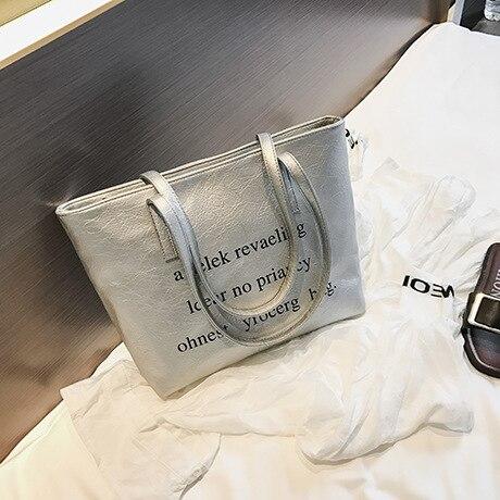 Capacità Tracolla Di Nuove Il cachi Pelle caffè Famoso Nero 2018 argento Grande Messaggero Delle Borse Designer Donne A In 65tBxq0wY