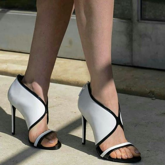 Sestito 2018 Ladies Sexy Front V Mixed Color Summer Sandals Woman Back Zipper Cover High Heels Dress Shoes Girls Peep Toe Shoes